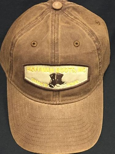 Picture of Hoffman Light Brown w/ Gold Logo 100% Cotton Twill